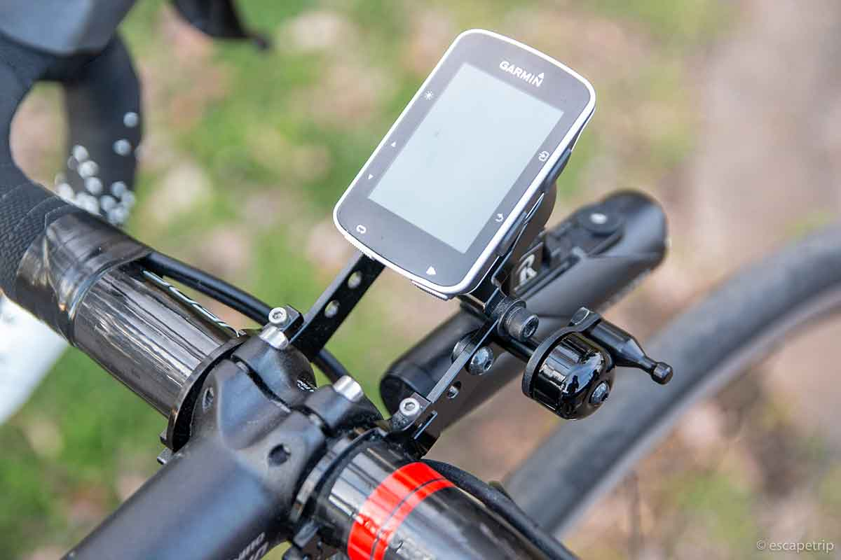 ロードバイクに装着したレックマウント