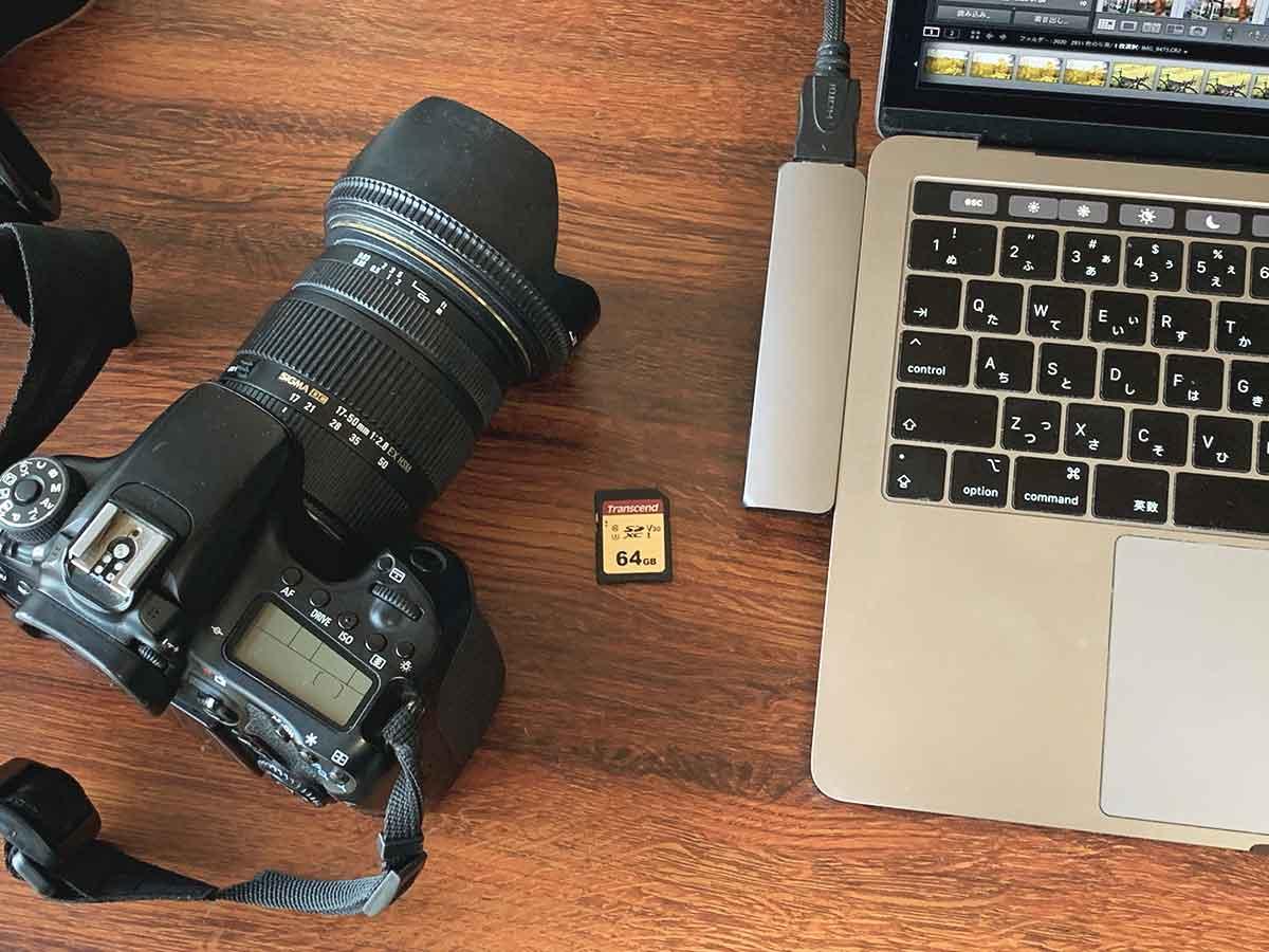 カメラとSDカードとパソコン