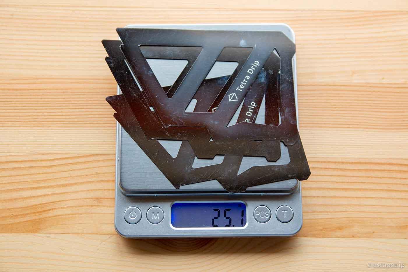 Tetra Drip 01Sの重さ