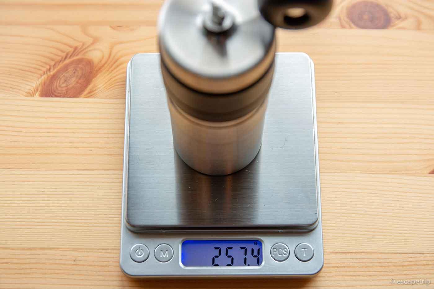 ポーレックスのコーヒーミル2の重量