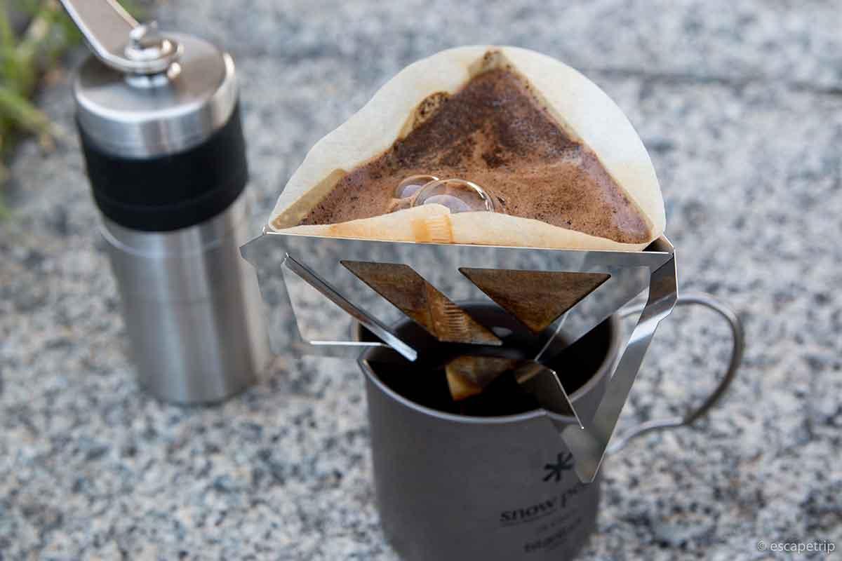 ポーレックスのコーヒーミルでコーヒーを淹れる