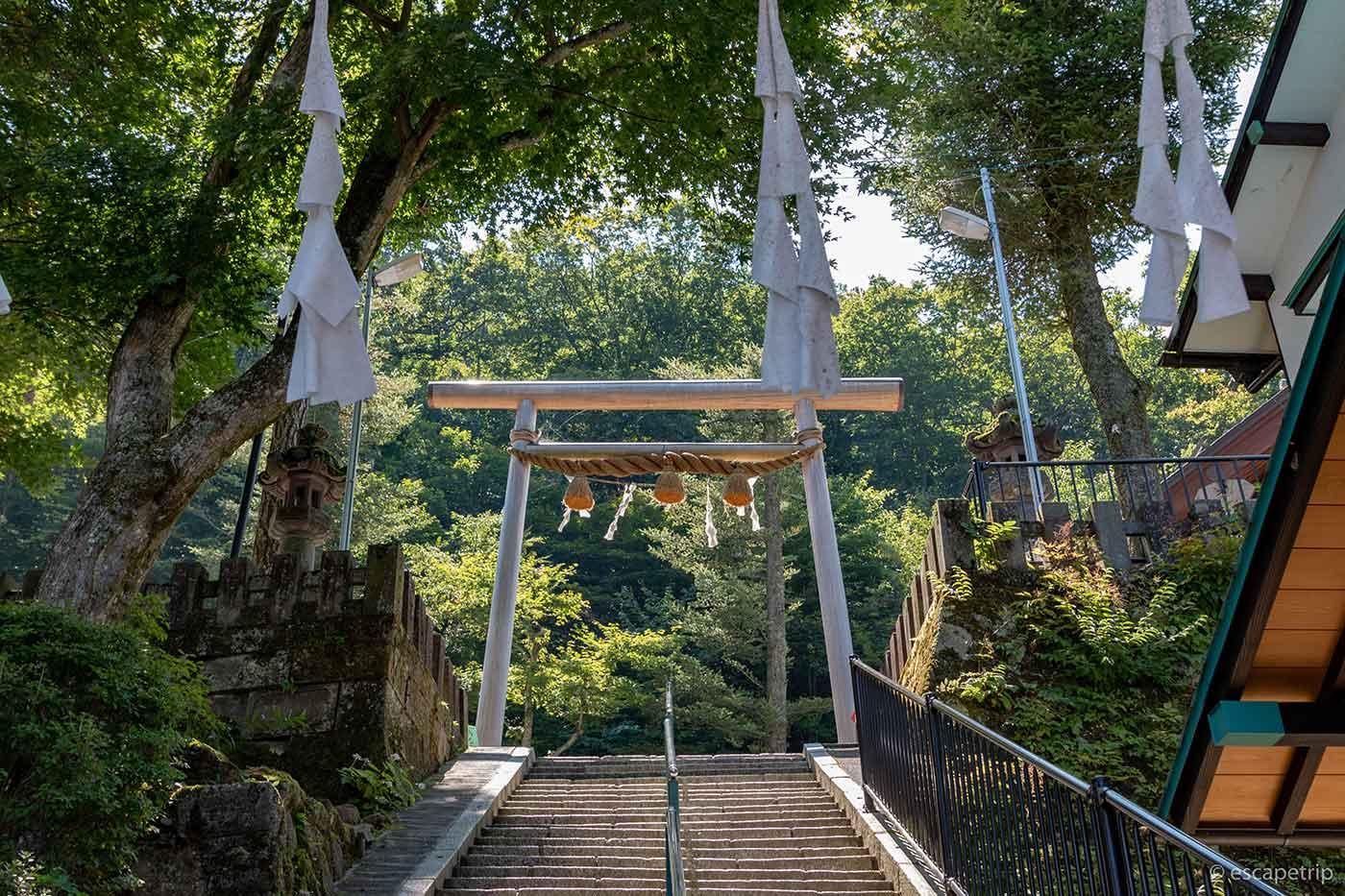伊香保温泉の鳥居