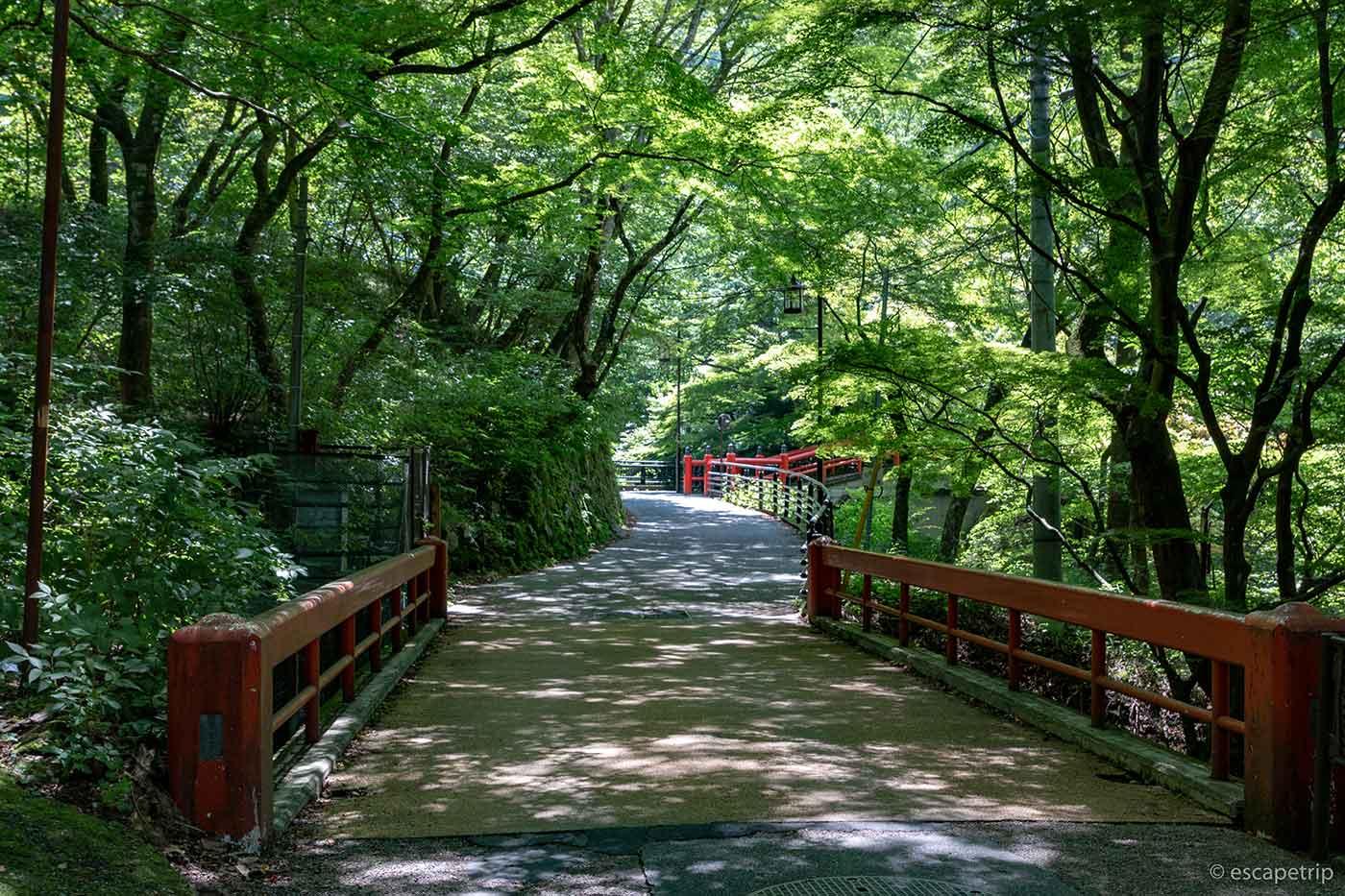 伊香保温泉露天風呂への道