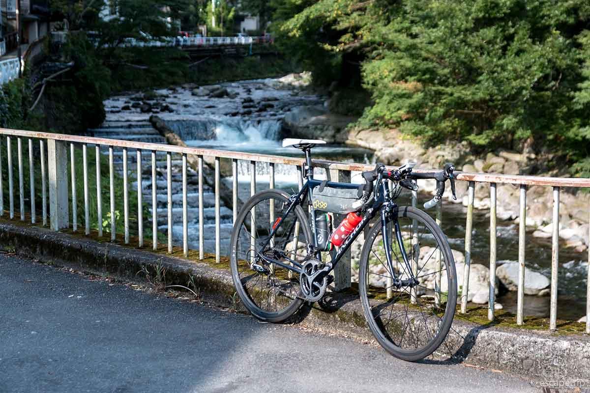 箱根湯本とロードバイク