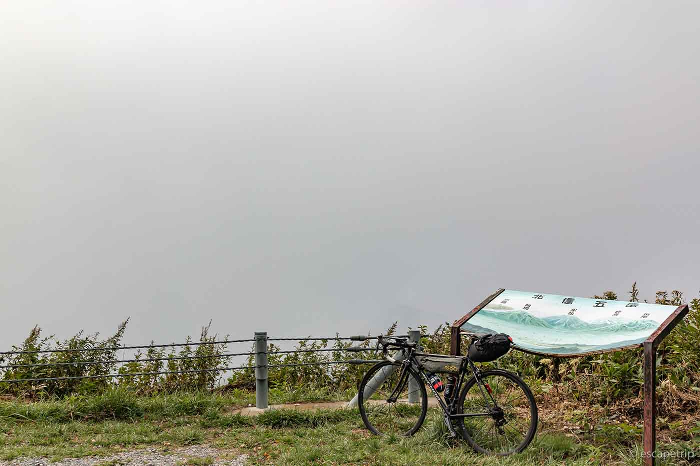 霧とロードバイク