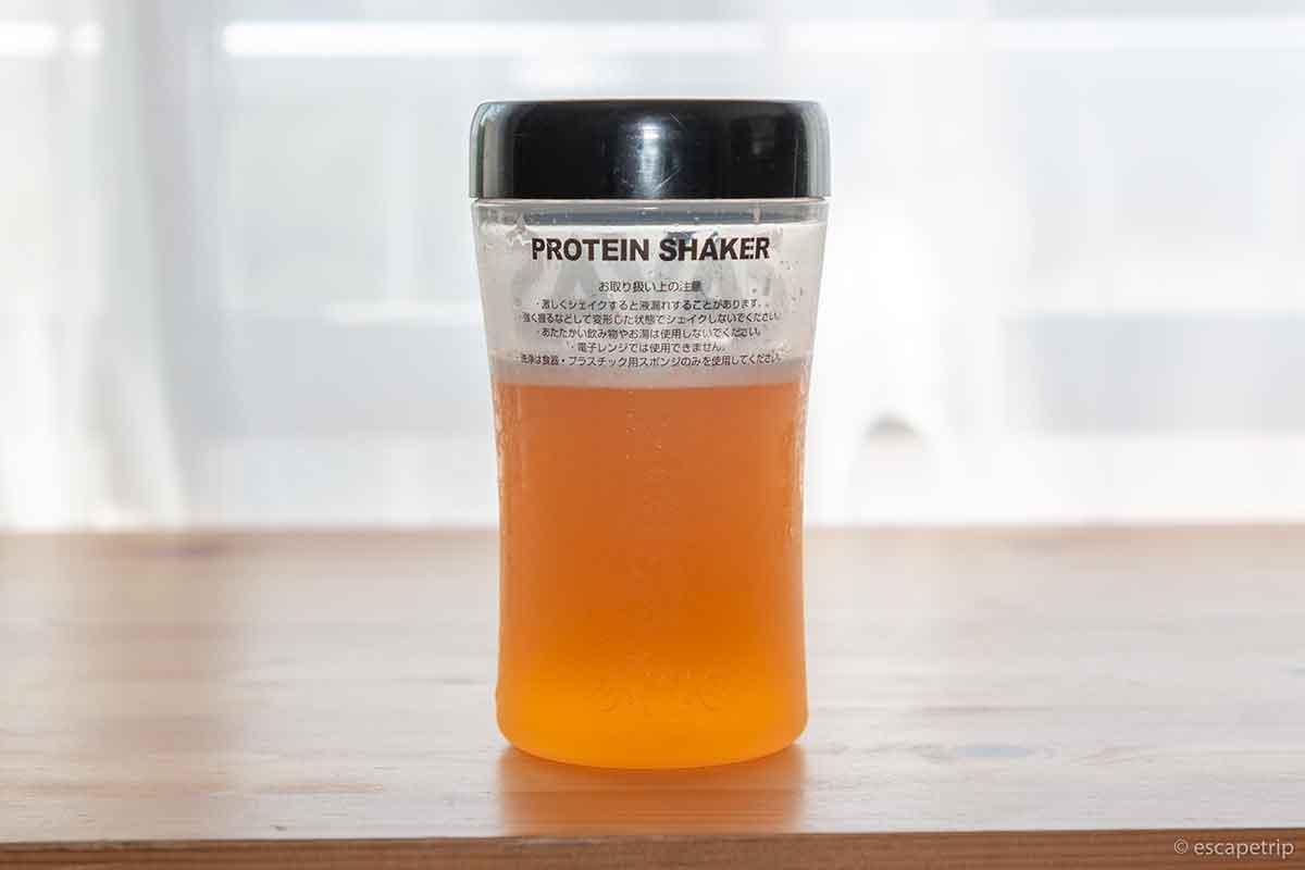マイプロテイン「クリアホエイアイソレート」のオレンジマンゴー味