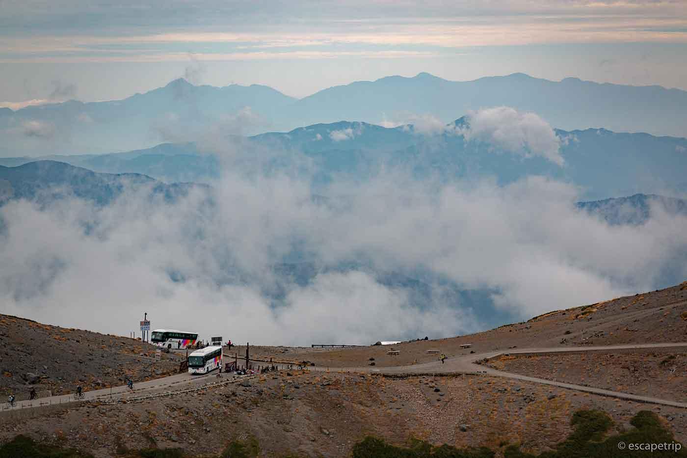 魔王岳から見る山々