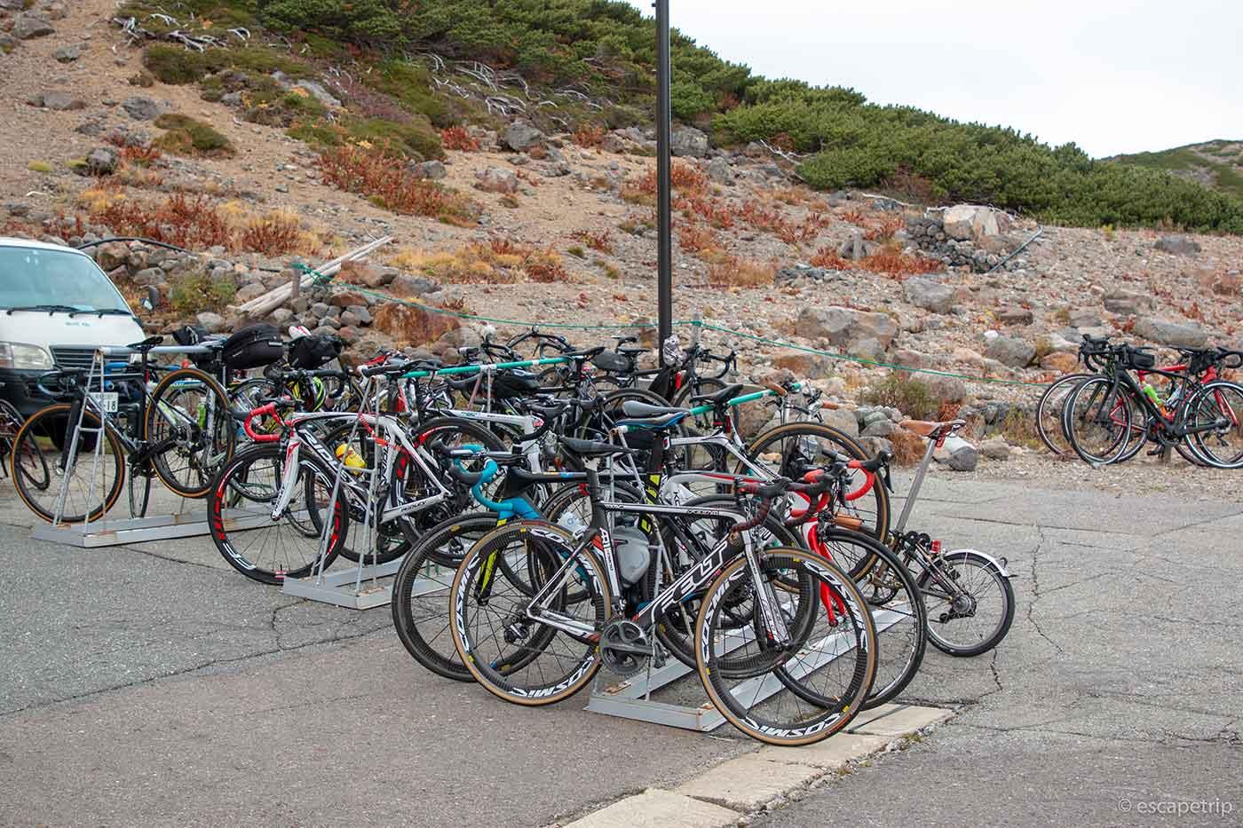 銀嶺荘の自転車ラック