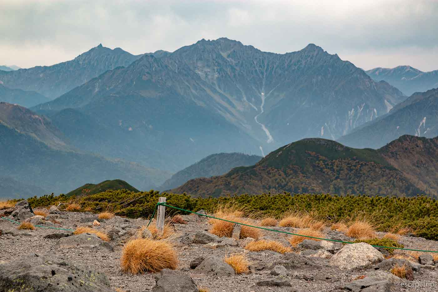 大黒岳から見た穂高連峰