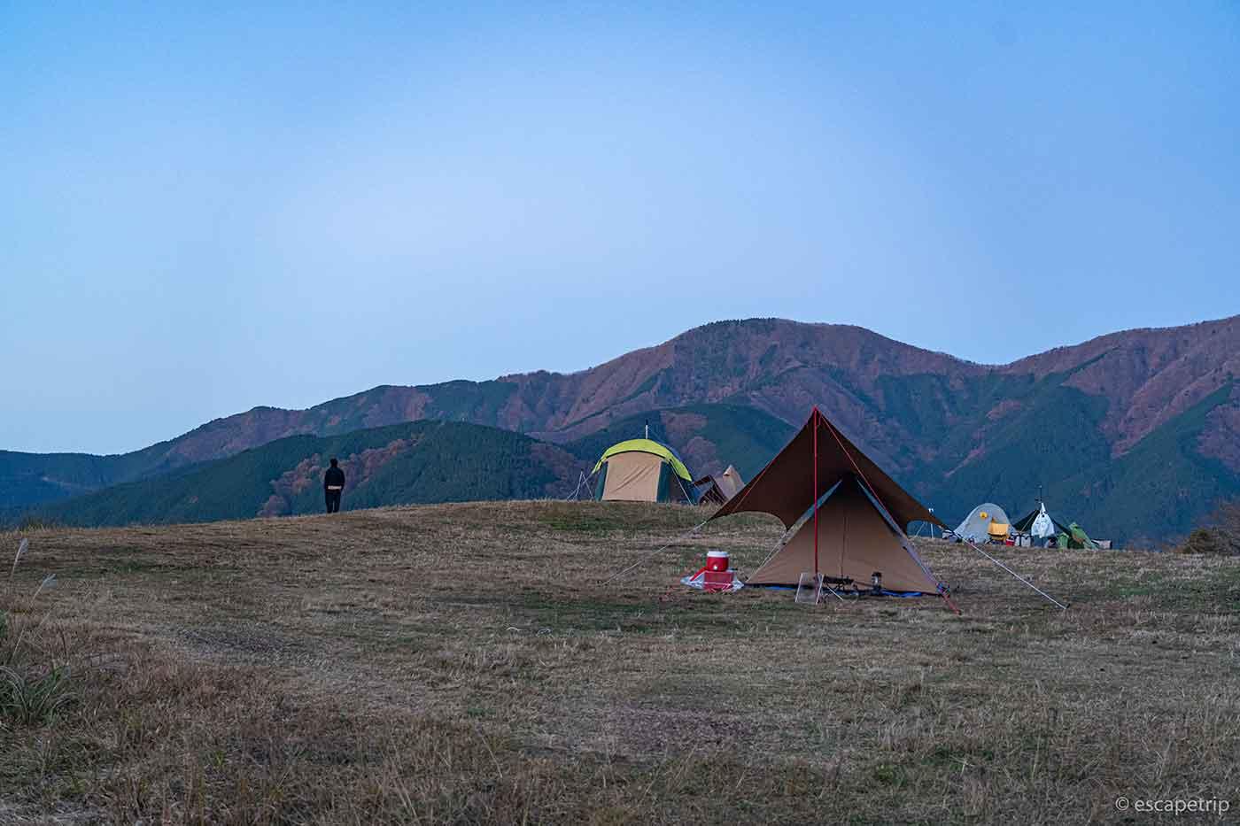 富士山YMCAのテントサイト