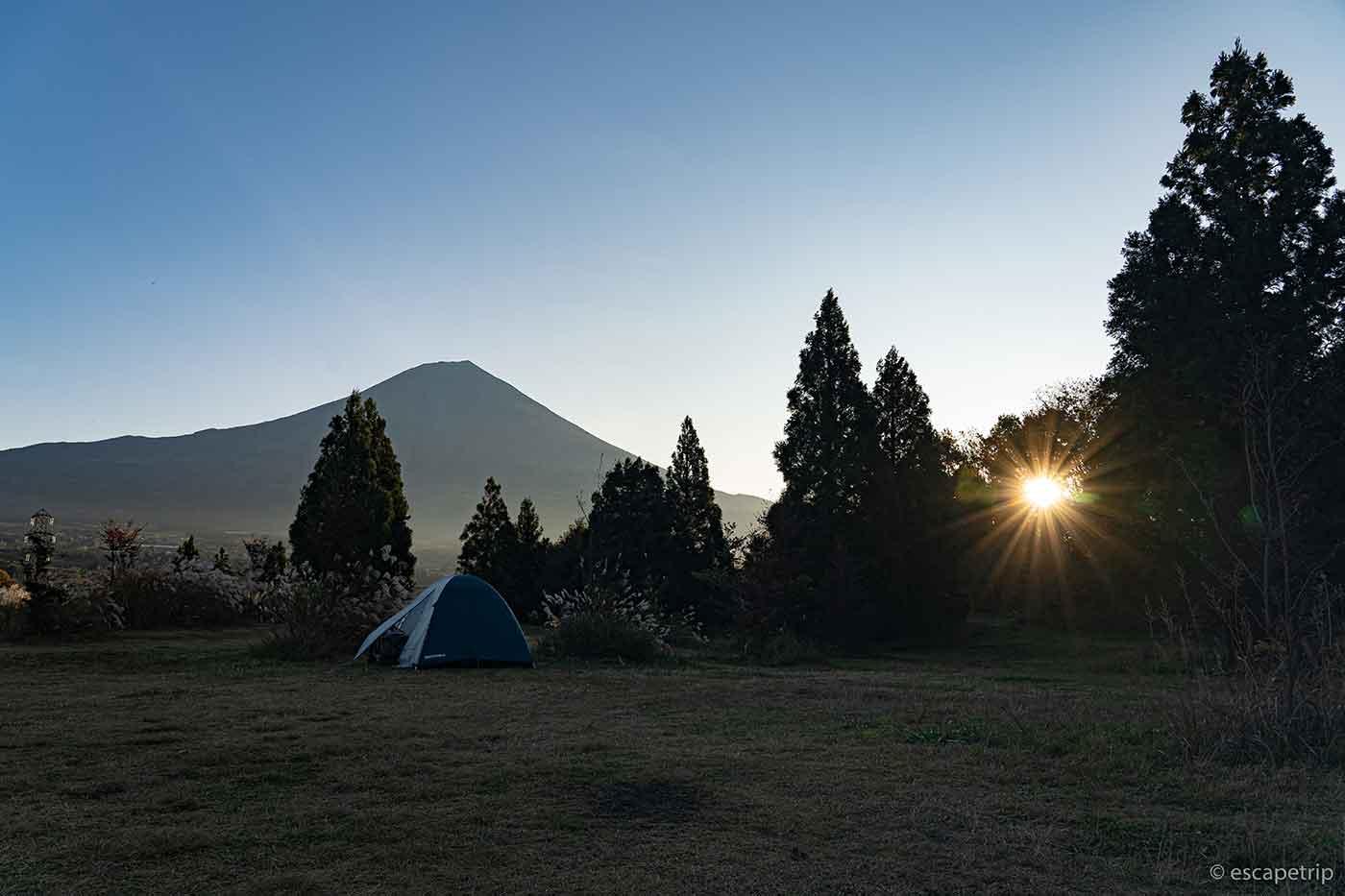 富士山YMCAの夜明け