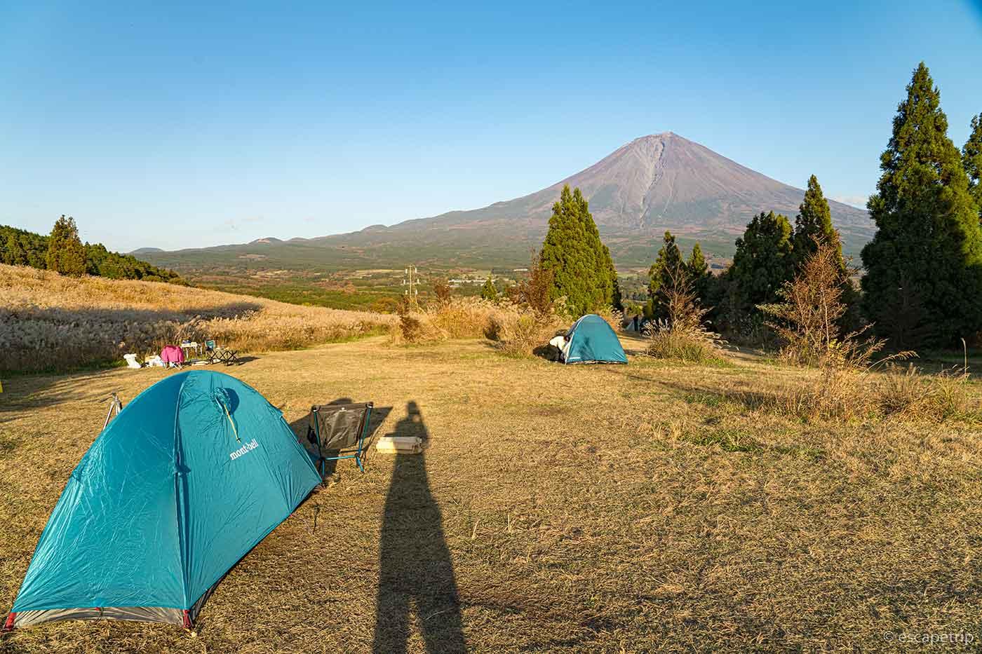 富士山YMCAでソロキャンプ