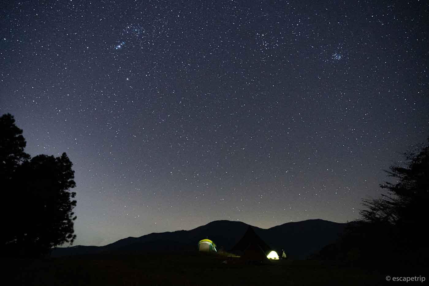 富士山YMCAの星空