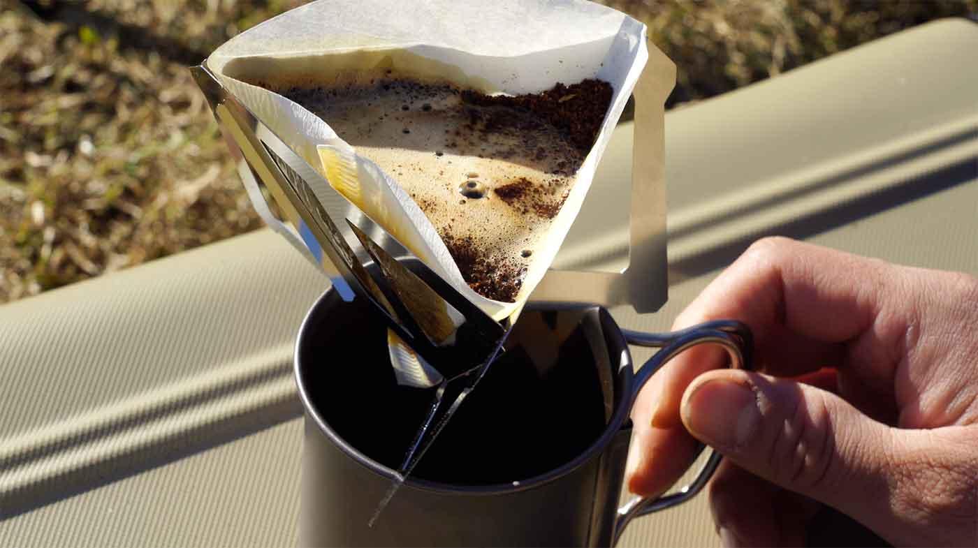 キャンプでコーヒー