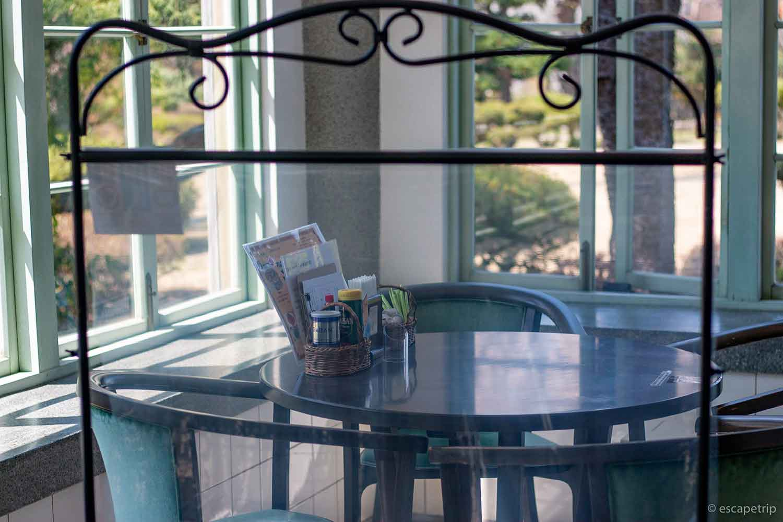 大正浪漫喫茶室のテラス席