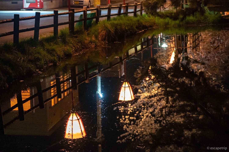 弘前公園の堀に映る景色