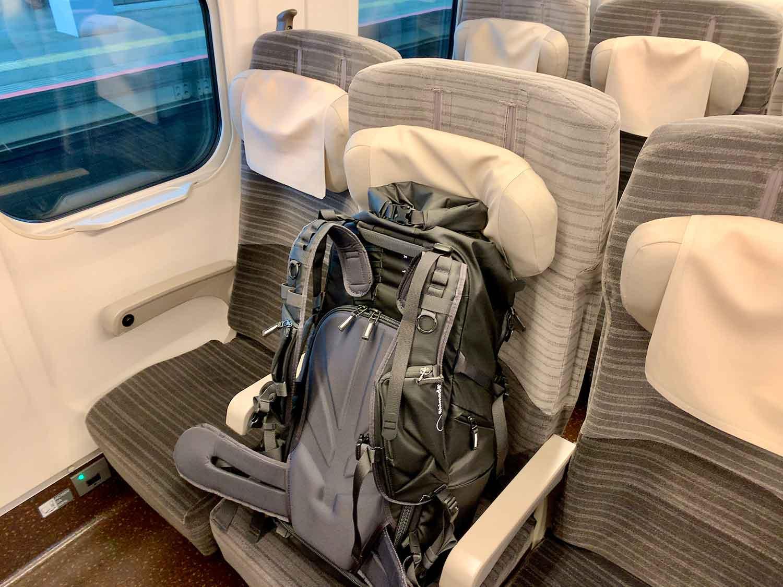 東北新幹線の座席