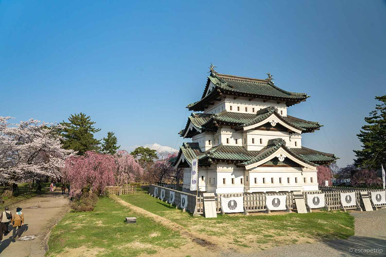 展望台から見る弘前城